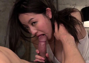 Beautiful asian blowjob
