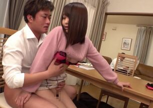 Asian riding creampie